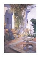 """Garden Grotto, Alcazar de Seville by Joaquin Sorolla y Bastida - 20"""" x 28"""""""