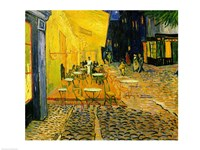 Cafe Terrace, Place du Forum, Arles, 1888 (detail 2) Fine Art Print