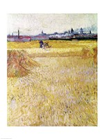Wheatfield with Sheaves, 1888 Fine Art Print