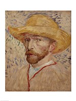Self Portrait with Straw Hat, 1887 Fine Art Print