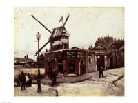 The Moulin de la Galette, 1886 by Vincent Van Gogh, 1886 - various sizes