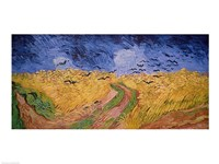 Wheatfield with Crows, 1890 Framed Print