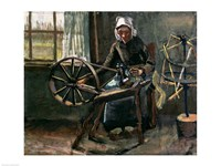 Peasant Woman Winding Bobbins Fine Art Print