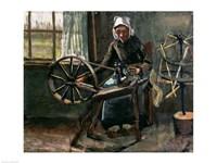 Peasant Woman Winding Bobbins Fine Art Print