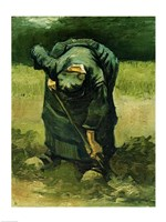 Peasant Woman Digging, 1885 by Vincent Van Gogh, 1885 - various sizes, FulcrumGallery.com brand