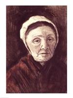 Head of an old woman in a Scheveninger Cap Fine Art Print