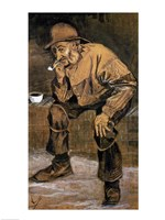 Old man with a pipe, 1883 Fine Art Print