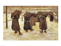 Miners' wives carrying sacks of coal, 1882 Fine Art Print