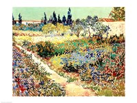 The Garden at Arles, 1888 Fine Art Print