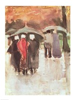 In the Rain, 1882 by Vincent Van Gogh, 1882 - various sizes