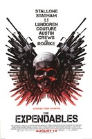 """Expendables - Skull - 24"""" x 36"""""""