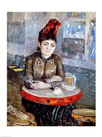 Woman in the 'Cafe Tambourin', 1887 Fine Art Print