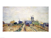 Vegetable Gardens and the Moulin de Blute-Fin on Montmartre, 1887 Fine Art Print