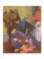 At the Milliner's by Edgar Degas - various sizes