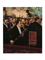 The Opera Orchestra, c.1870 Fine Art Print