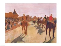 The Parade, or Race Horses in front of the Stands Fine Art Print