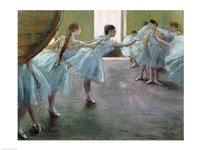 Dancers at Rehearsal Fine Art Print