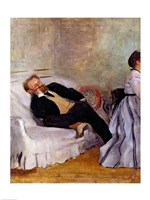 Monsieur and Madame Edouard Manet Fine Art Print