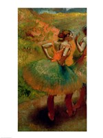 Dancers Wearing Green Skirts, c.1895 Framed Print