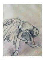 Dancer Fixing her Slipper, c.1865 Fine Art Print