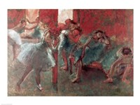 Dancers at Rehearsal - red Fine Art Print