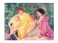The Swim, or Two Mothers and Their Children on a Boat, 1910 by Mary Cassatt, 1910 - various sizes