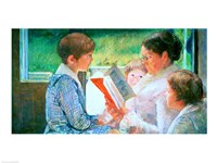 Mrs Cassatt Reading to her Grandchildren, 1888 Fine Art Print