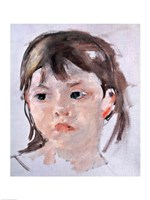 Head of a Young Girl Fine Art Print