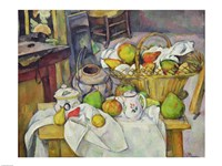 Still life with basket Fine Art Print