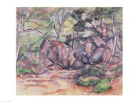 Woodland with Boulders, 1893 Fine Art Print
