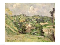 Auvers-sur-Oise, seen from the Val Harme by Paul Cezanne - various sizes