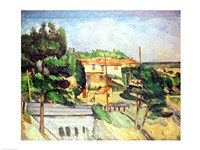 Viaduct at Estaque by Paul Cezanne - various sizes, FulcrumGallery.com brand