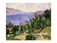 View of Mount Marseilleveyre and the Isle of Maire Fine Art Print