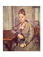 Madame Cezanne Leaning on a Table by Paul Cezanne - various sizes