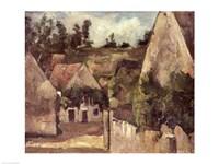 Crossroads at the Rue Remy, Auvers, c.1872 Fine Art Print