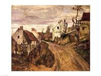 The Village Road, Auvers, c.1872-73 Fine Art Print