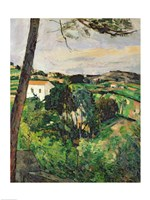 Landscape with red roof or The pine at the Estaque-76, 1875 by Paul Cezanne, 1875 - various sizes