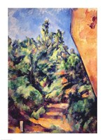 Red rock, 1895 by Paul Cezanne, 1895 - various sizes