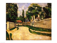 Houses Along a Road, 1881 by Paul Cezanne, 1881 - various sizes