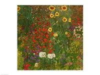 Farm Garden with Flowers Fine Art Print