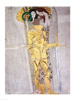 The Knight detail of the Beethoven Frieze by Gustav Klimt - various sizes, FulcrumGallery.com brand