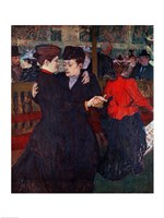 At the Moulin Rouge: The Two Waltzers, 1892 Fine Art Print