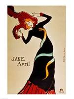 Jane Avril by Henri de Toulouse-Lautrec - various sizes