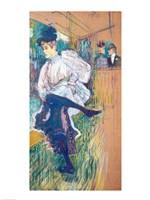 Jane Avril Dancing by Henri de Toulouse-Lautrec - various sizes