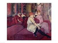 In the Salon at the Rue des Moulins, 1894 by Henri de Toulouse-Lautrec, 1894 - various sizes