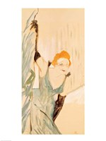 Yvette Guilbert taking a Curtain Call Fine Art Print