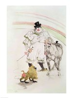 At the Circus: performing horse and monkey, 1899 by Henri de Toulouse-Lautrec, 1899 - various sizes