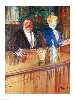In the Bar: The Fat Proprietor and the Anaemic Cashier, 1898 by Henri de Toulouse-Lautrec, 1898 - various sizes