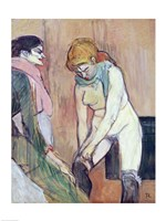 Woman Putting on her Stocking by Henri de Toulouse-Lautrec - various sizes