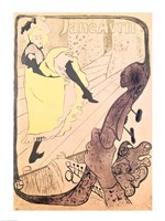 Poster advertising Jane Avril by Henri de Toulouse-Lautrec - various sizes